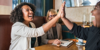 Work After Maternity Leave - Women High Fives